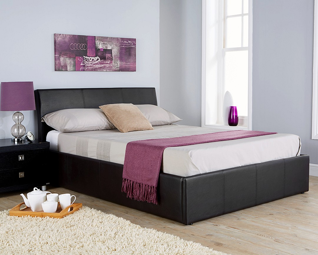 Fantastic Kj Faux Leather Ottoman Bed 46 Kj Group Gmtry Best Dining Table And Chair Ideas Images Gmtryco